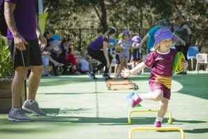 Billy Slater running Billy's Buddies Program at a Brisbane Childcare Centre