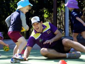 Courier Mail - Billy Slater at Goodstart Early Learning