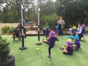 Kicking practise at Billy's Buddies with Billy Slater
