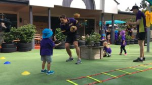 Passing Practise with Billy Slater at Billy's Buddies