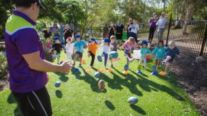 Billy Slater running Billy's Buddies Sessions
