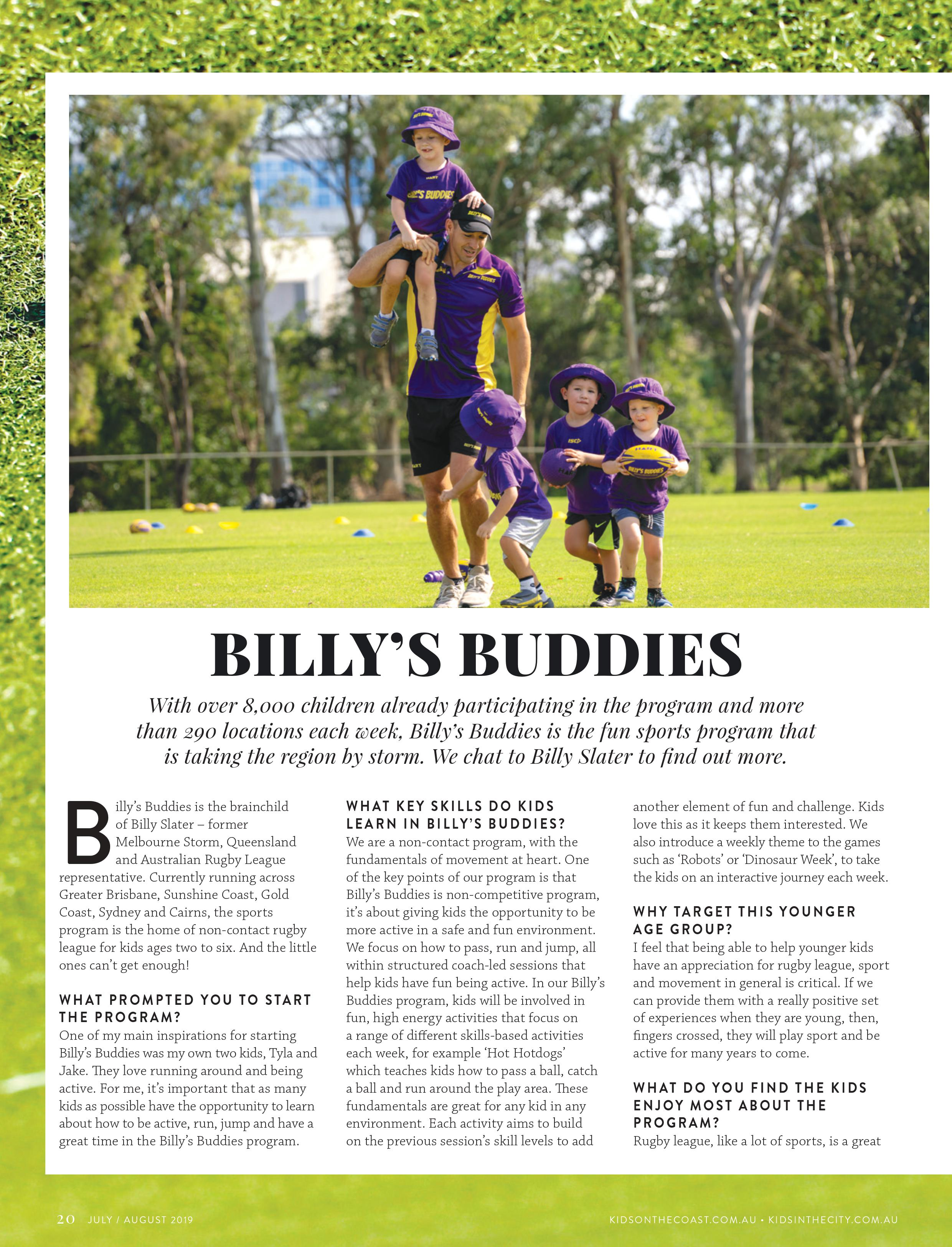 Billy Slater chats to Kids In The City about the Billy's Buddies Program